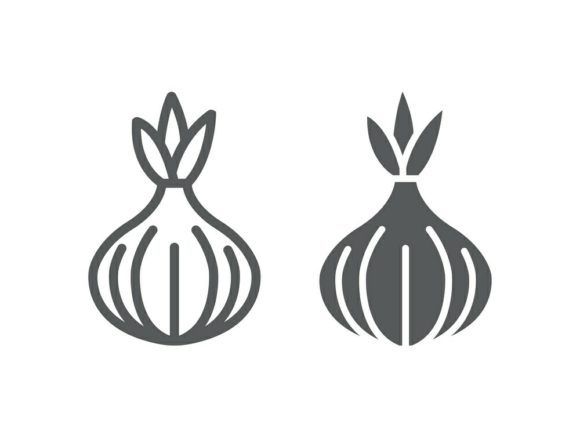 Download Free Onion Line And Glyph Graphic By Anrasoft Creative Fabrica for Cricut Explore, Silhouette and other cutting machines.