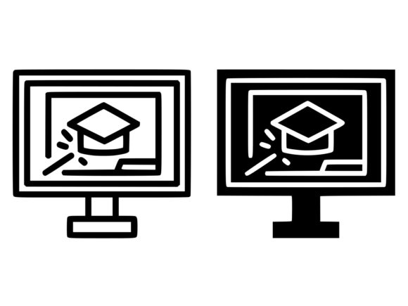 Download Free Online Training Line And Glyph Icon Graphic By Anrasoft for Cricut Explore, Silhouette and other cutting machines.