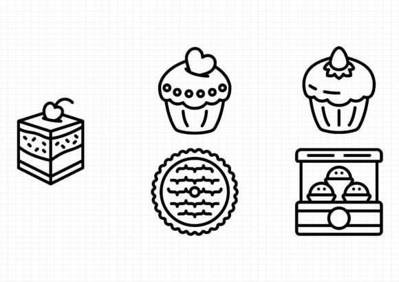 Download Free Patisserie Graphic By Gantengagif7 Creative Fabrica for Cricut Explore, Silhouette and other cutting machines.
