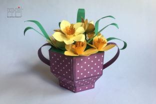 Pot of Daffodils Graphic 3D SVG By patrizia.moscone