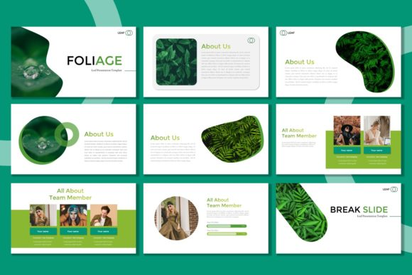 Download Free Presentation Templates Foliage Grafico Por Listulabs for Cricut Explore, Silhouette and other cutting machines.