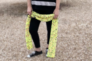 Punk Lemonade Scarf Knitting Pattern Graphic Knitting Patterns By Knit and Crochet Ever After