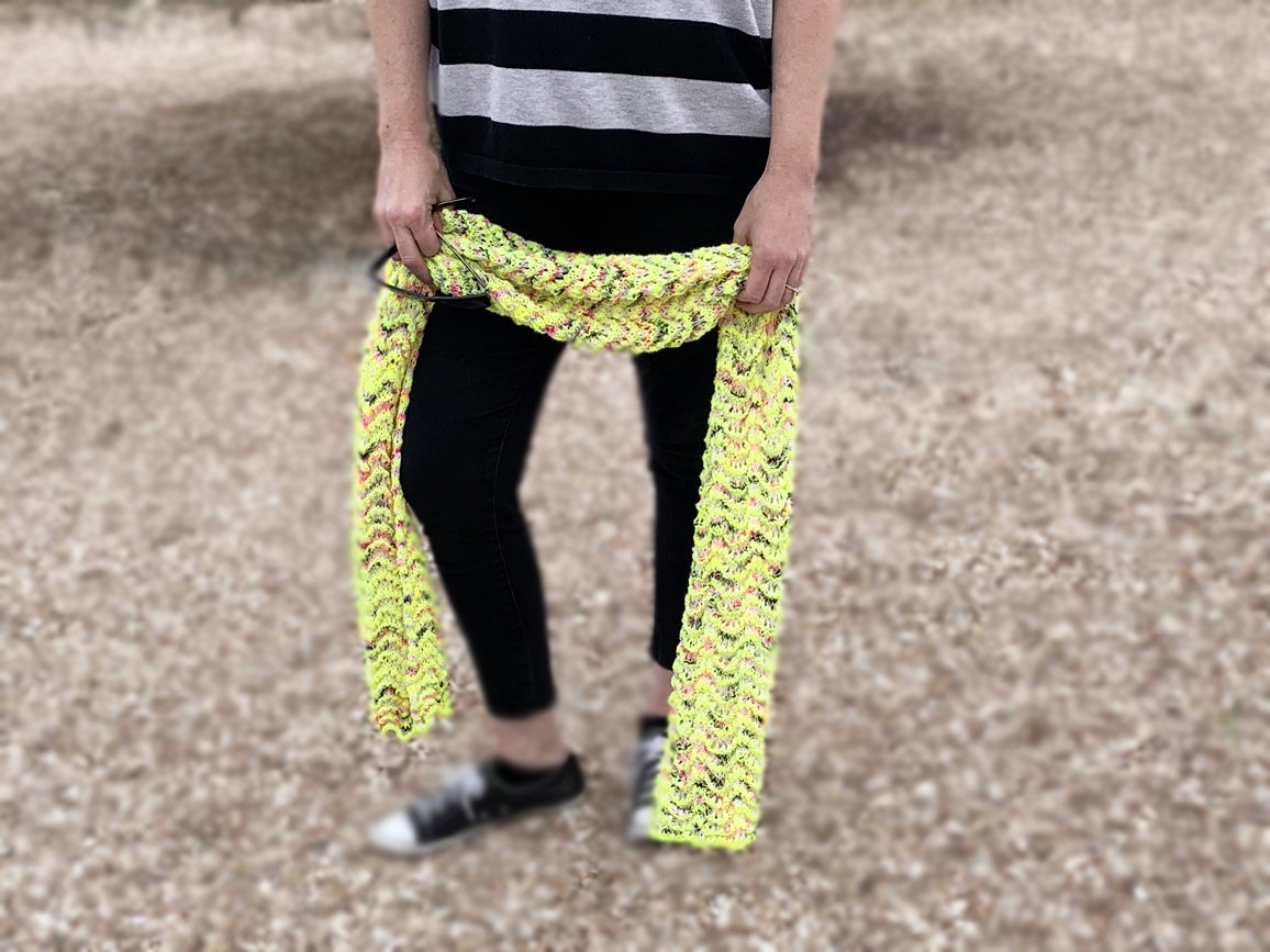 Download Free Punk Lemonade Scarf Knitting Pattern Graphic By Knit And Crochet for Cricut Explore, Silhouette and other cutting machines.