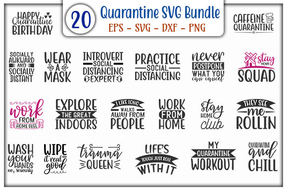 Print on Demand: Quarantine Design - Bundle Graphic Print Templates By GraphicsBooth