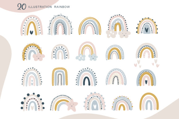 Rainbow Scandinavian   Graphic Objects By Happy Letters - Image 4