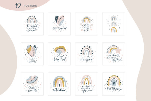 Rainbow Scandinavian   Graphic Objects By Happy Letters - Image 7