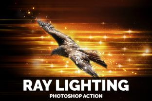 Ray Lighting Photoshop Action Graphic Actions & Presets By Creative Creator