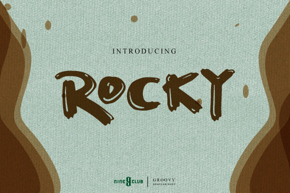 Print on Demand: Rocky Script & Handwritten Font By Nine Club Studio
