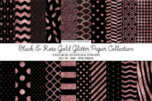 Download Free Rose Gold Glitter Digital Papers Graphic By Clipheartcreations for Cricut Explore, Silhouette and other cutting machines.