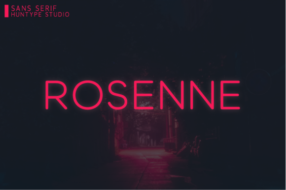 Print on Demand: Rosenne Sans Serif Font By Huntype