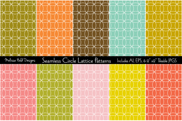 Seamless Circle Lattice Patterns Graphic Patterns By Melissa Held Designs