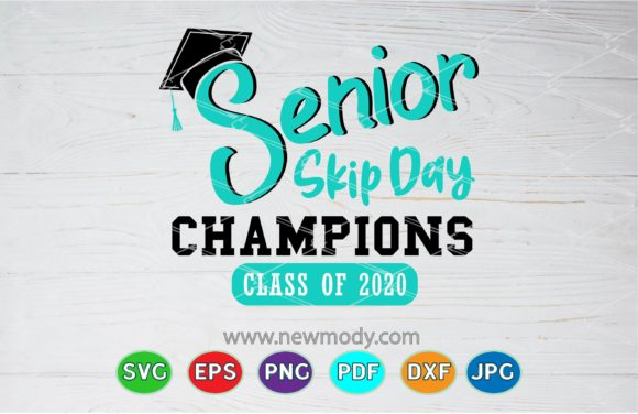 Print on Demand: Senior Skip Day Champions Class of 2020 Graphic Crafts By Amitta - Image 2
