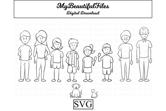 Print on Demand: Stick Figure Family Graphic Illustrations By MyBeautifulFiles