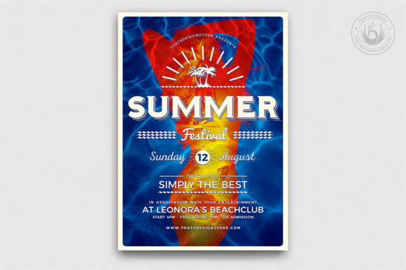 Download Free Summer Fest Flyer Template V3 Graphic By Thatsdesignstore for Cricut Explore, Silhouette and other cutting machines.