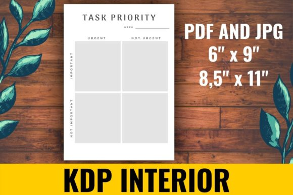 Print on Demand: Task Priority KDP Interior Graphic KDP Interiors By atlasart