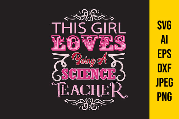 Download Free Teacher Quote This Girl Graphic By Tosca Digital Creative Fabrica for Cricut Explore, Silhouette and other cutting machines.