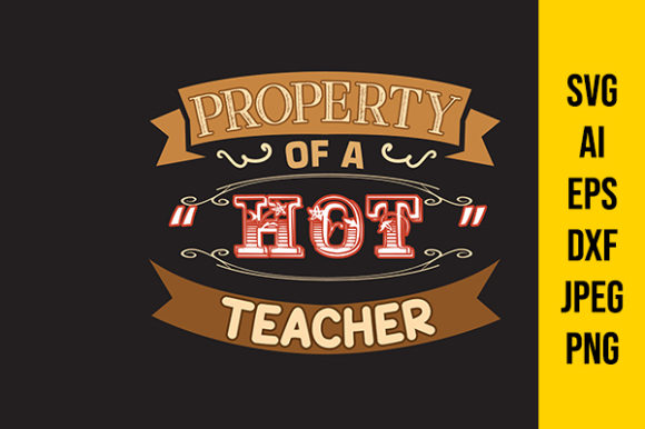 Print on Demand: Teacher Quote Property Graphic Crafts By Tosca Digital