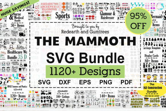 The Amazing Mammoth Crafting Bundle Grafik Plotterdateien von redearth and gumtrees