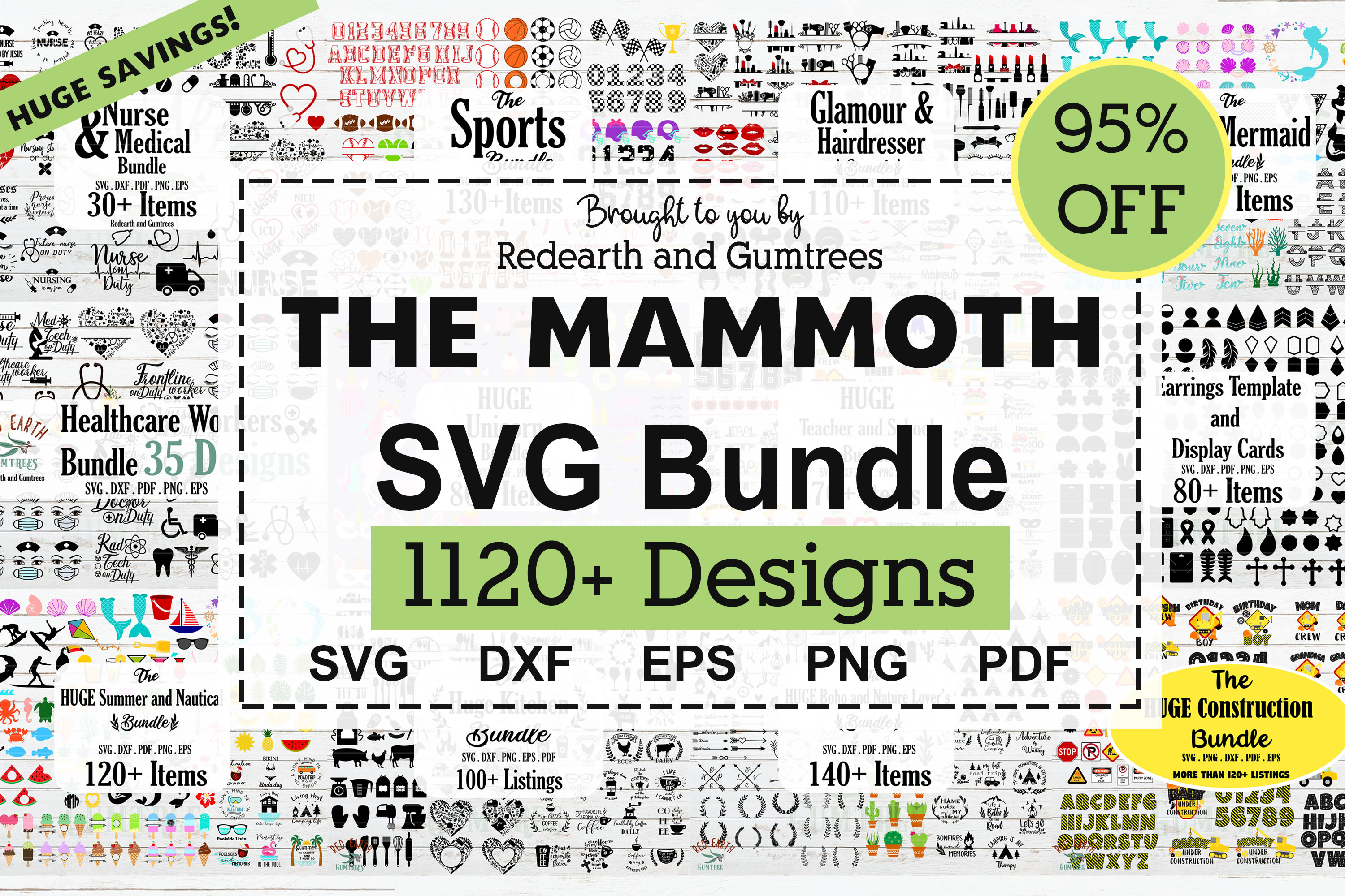 The Amazing Mammoth Crafting Bundle SVG, PNG, EPS & DXF by Free SVG File