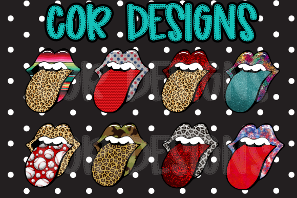 Tongue Sticking out Bundle SVG, PNG, EPS & DXF by Free SVG File