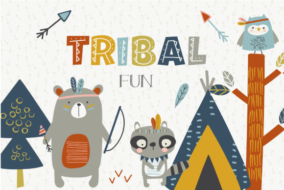 Print on Demand: Tribal Fun Clipart Graphic Illustrations By poppymoondesign