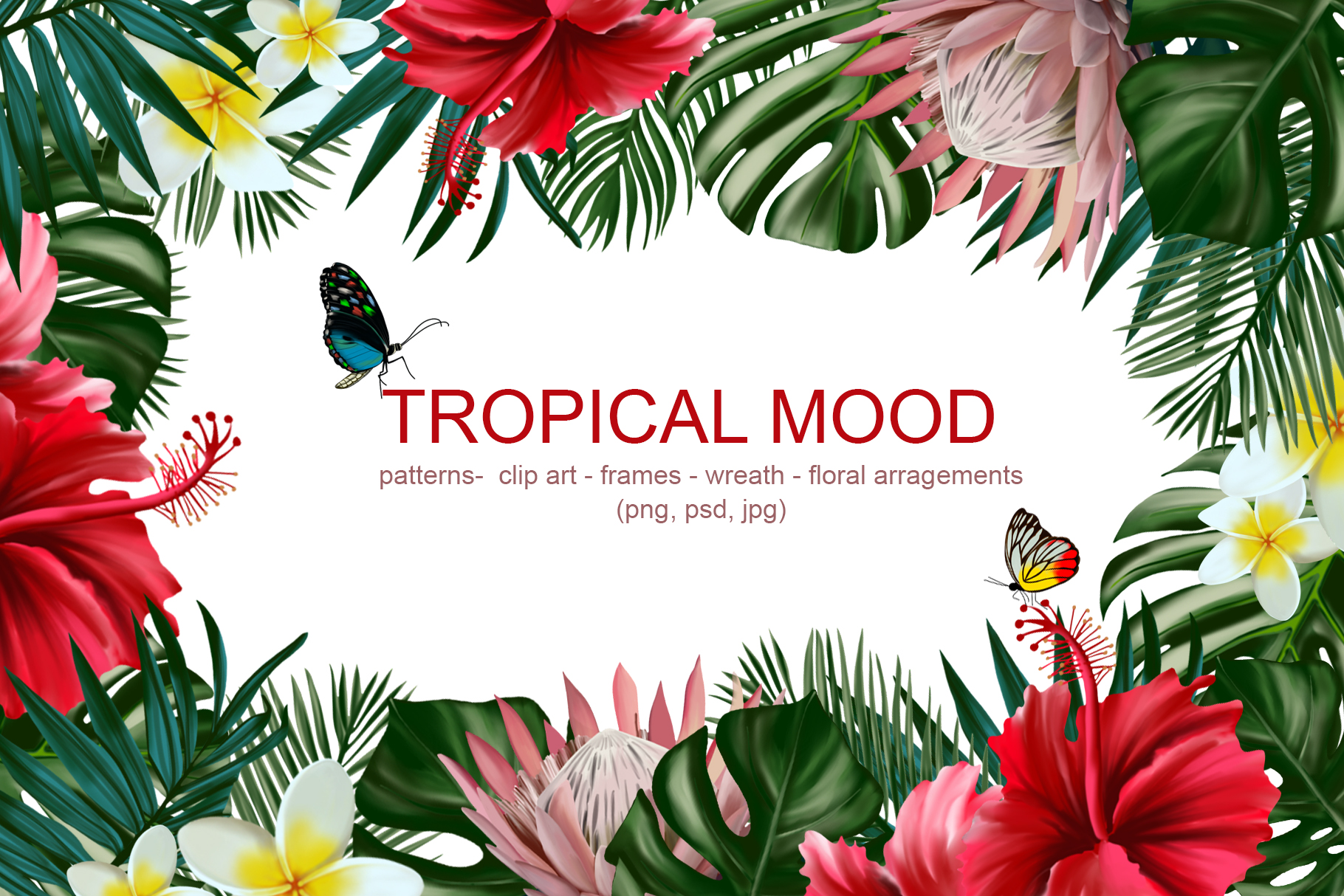 Download Free Tropical Mood Floral Collection Graphic By Vera Vero for Cricut Explore, Silhouette and other cutting machines.