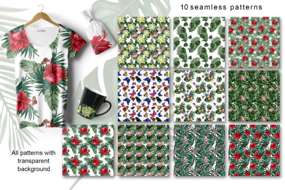 Download Free Tropical Mood Floral Collection Graphic By Vera Vero Creative Fabrica for Cricut Explore, Silhouette and other cutting machines.