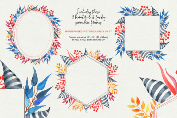 Download Free Watercolor Funky Geometric Frames Graphic By Sls Lines for Cricut Explore, Silhouette and other cutting machines.