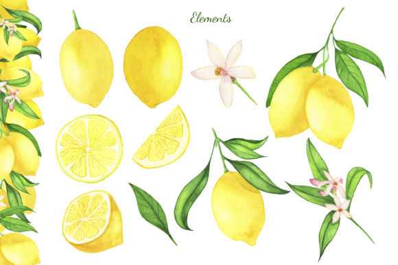 Download Free Watercolor Lemon Clipart Lemon Frame Graphic By S Yanyeva for Cricut Explore, Silhouette and other cutting machines.
