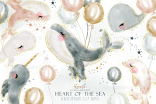 Watercolor Whale Cliparts Graphic Illustrations By Hippogifts 1