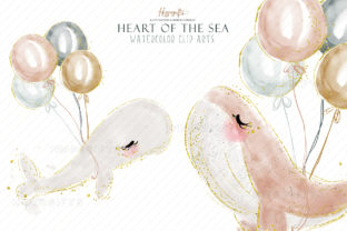 Watercolor Whale Cliparts Graphic Illustrations By Hippogifts 7