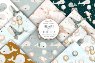 Watercolor Whale Patterns Graphic Patterns By Hippogifts