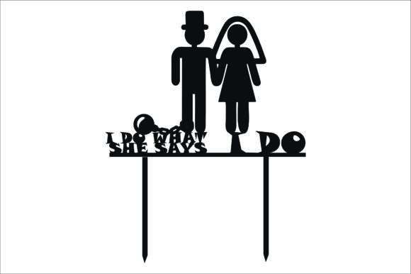 Download Free Wedding Cake Topper Cut Files Graphic Graphic By Bn3300877 for Cricut Explore, Silhouette and other cutting machines.