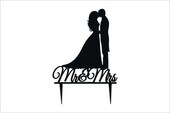 Wedding Cake Topper, Cut Files Graphic Graphic Product Mockups By bn3300877