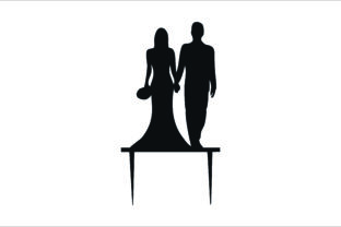 Wedding Cake Topper, Cut Files Graphic Graphic Product Mockups By Fast Store