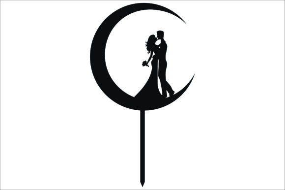 Download Free Wedding Cake Topper Cut Files Graphic Graphic By Bn3300877 Creative Fabrica for Cricut Explore, Silhouette and other cutting machines.