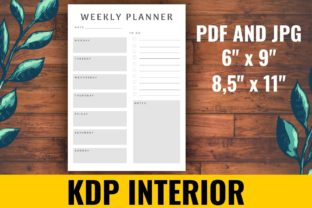 Print on Demand: Weekly Planner KDP Interior Graphic KDP Interiors By atlasart