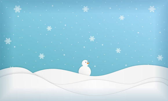 Print on Demand: Winter Landscape Background Graphic Backgrounds By be young
