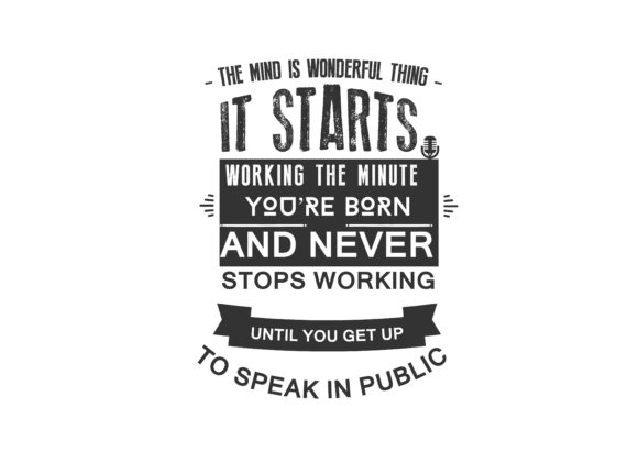 Download Free Get Up To Speak In Public Graphic By Baraeiji Creative Fabrica for Cricut Explore, Silhouette and other cutting machines.