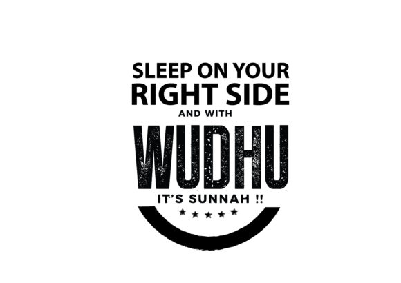 Download Free Sleep On Your Right Side And With Wudhu Graphic By Baraeiji for Cricut Explore, Silhouette and other cutting machines.