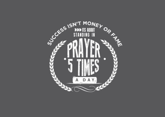 Download Free Standing In Prayer 5 Times A Day Graphic By Baraeiji Creative for Cricut Explore, Silhouette and other cutting machines.
