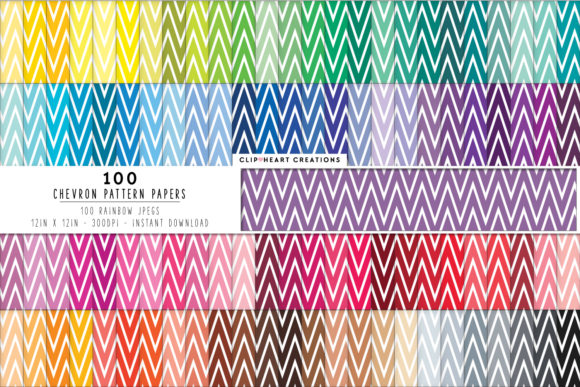100 Chevron Pattern Papers Graphic Backgrounds By clipheartcreations