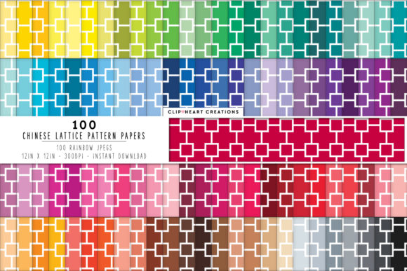 Download Free 100 Chinese Lattice Pattern Papers Graphic By Clipheartcreations for Cricut Explore, Silhouette and other cutting machines.