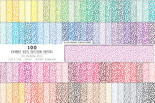 100 Color Dots Pattern Papers Graphic Backgrounds By clipheartcreations