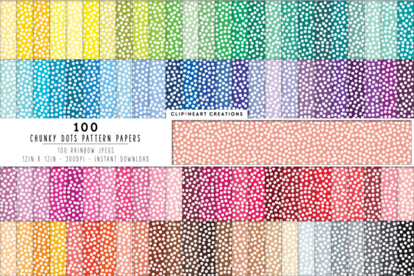100 Dots Pattern Papers Graphic Backgrounds By clipheartcreations