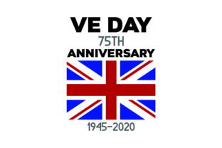 VE DAY 75th Anniversary 1945-2020 UK Designs Craft Cut File By Creative Fabrica Crafts