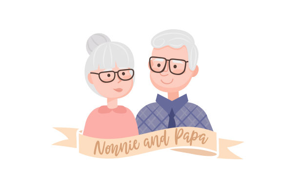 Download Free Nonnie And Papa Svg Cut File By Creative Fabrica Crafts for Cricut Explore, Silhouette and other cutting machines.