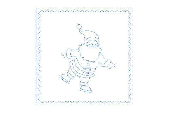Download Free Santa Antique Bluework Svg Cut File By Creative Fabrica Crafts for Cricut Explore, Silhouette and other cutting machines.