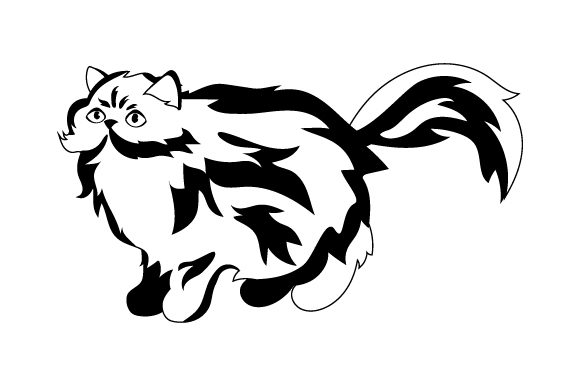 Download Free Persian Cat Svg Cut File By Creative Fabrica Crafts Creative for Cricut Explore, Silhouette and other cutting machines.