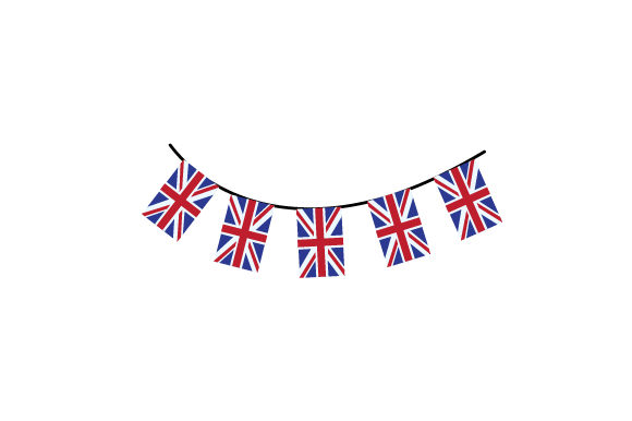 Union Jack Bunting UK Designs Craft Cut File By Creative Fabrica Crafts